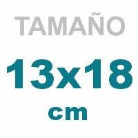 13 x 18 cm.